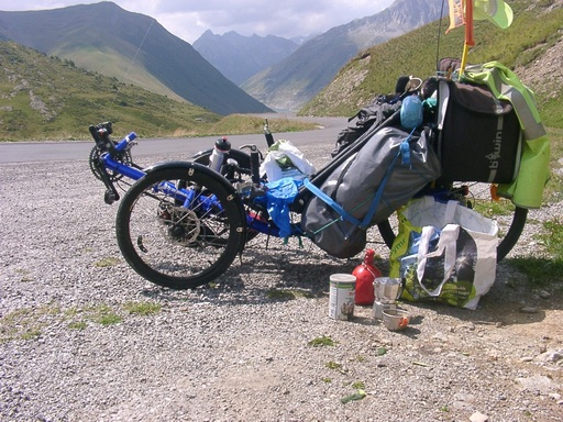 Chargement bagages d'un trike Glandon